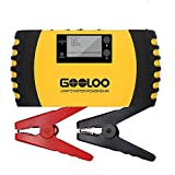 GOOLOO 1000A 20800mAh Portable Car Jump Starter (Up to 7.0L Gas, 5.5L Diesel Engine) 12V Auto Battery Booster Phone Charger Power Pack Built-in LED Light and Smart Protection