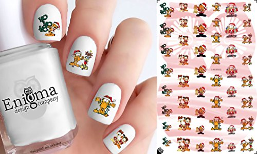 Garfield Christmas Nail Decals (Set of 48) (Clear (Christmas Decal Set)