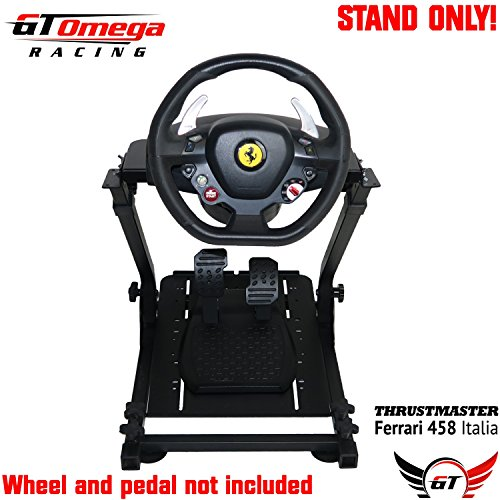 GT Omega Steering Wheel Stand for Thrustmaster TX Racing Wheel Ferrari 458  Italia & Pedals Set, Xbox One, PC - Compact, Foldable & Tilt-Adjustable to
