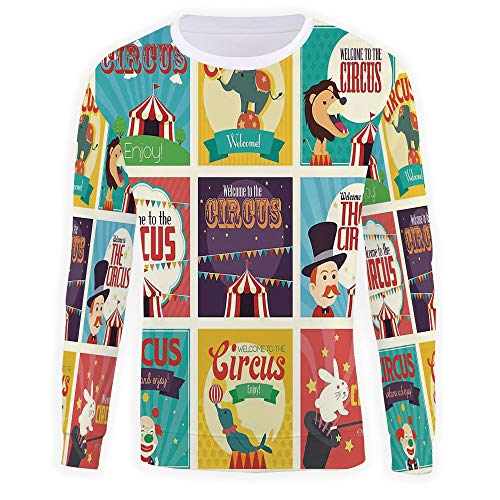 iPrint Unisex 3D Fashion Digital Graphic Print,Circus Decor,Pullover Hoodie H for $<!--$35.99-->