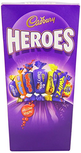 (Cadbury Heroes Original Cadbury Heroes Carton Imported From The UK England Chocolate Miniatures Dairy Milk Dairy Milk Caramel Dairy Milk Wholenut Éclair Fudge Twirl Bourneville Best Of British)