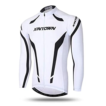 Pinjeer Youthful 3D Printing Pure Color Men s Cycling Jersey Clothing  Spring Autumn Jersey Men Long Sleeve 369cde8d0