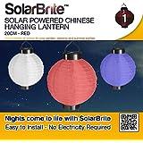 Solar Brite suspension Lanterne chinoise solaire 20 cm-Rouge