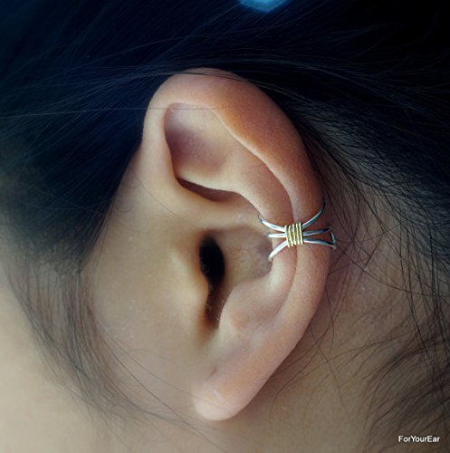 86 Simple Three Line Non Pierced Ear Cuff