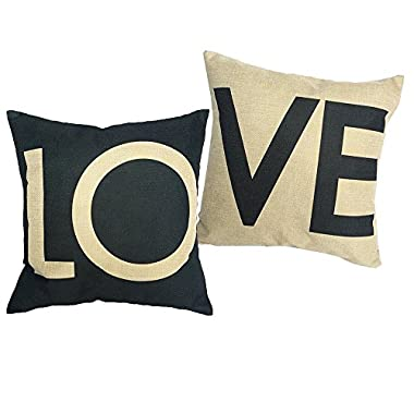 Sunlightsell Stylish Simplicity Couples Series Linen Square Decorative Fashion Throw Pillow Case Cushion Cover 18  X18   (G)