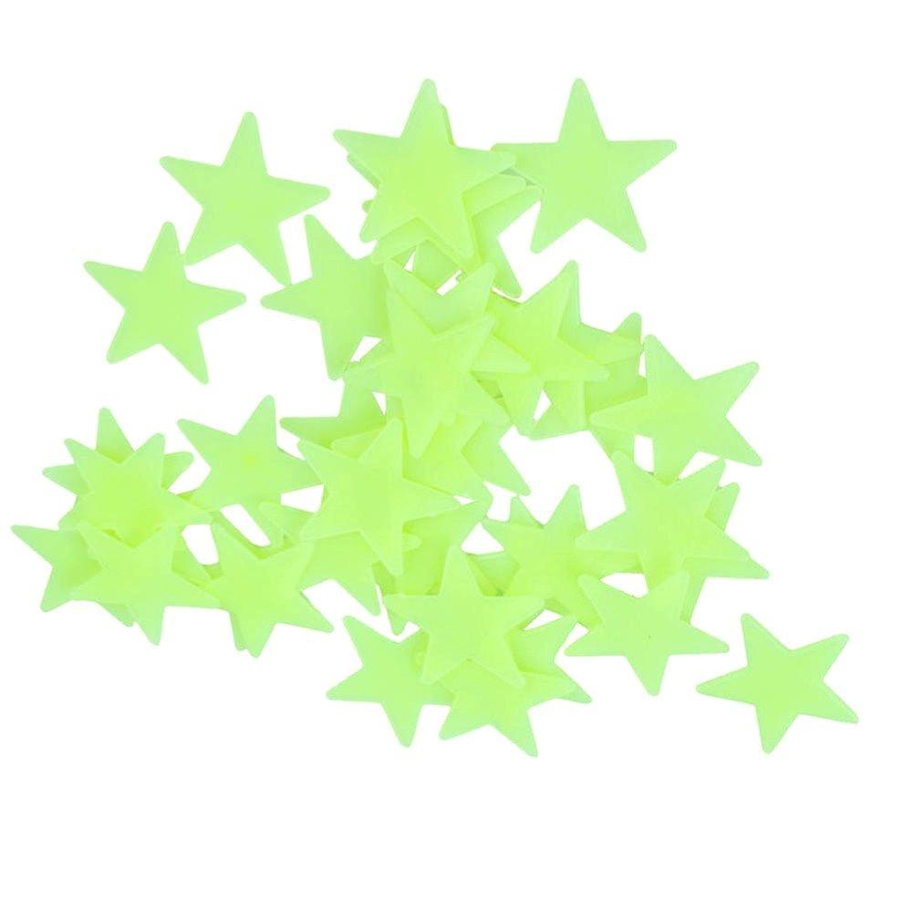 Vert Clair Plastique Lumineux Mur Autocollants Sticker Mural Bricolage NiceButy 200pcs Maison Mur Lueur dans Les /éToiles Sombres Autocollants Autocollants B/éB/é Enfant Chambre denfant