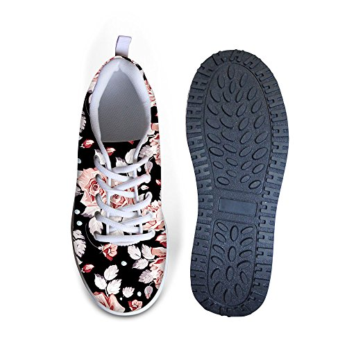 Platform Sneakers HUGS Flowers Style 3 Mesh Wedges SHoes Floral Sweety IDEA xRr80