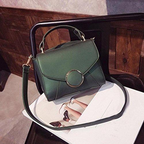 Hunpta Frauen Mode Handtasche Schulter Tasche Tote Damen Handtasche Small Square Bag Grün v3KPMaP