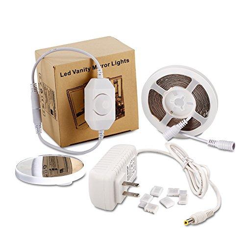 Litake LED Light Strip Kit with Dimmer and Power Supply, 240 Units SMD 2835 LEDs, 13ft/4M 12V LED Ribbon, 6000K Daylight White LED Strip Lights, Non-Waterproof LED Tape