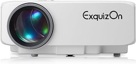Exquizon GP9S - Proyector portátil LCD Home Cinema (800 lúmenes ...