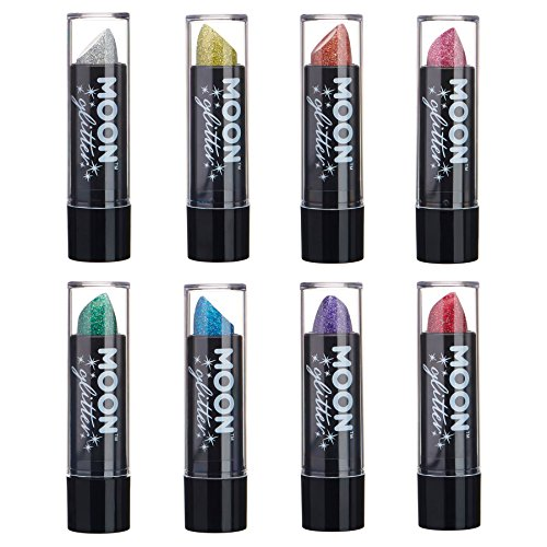 Holographic Glitter Lipstick by Moon Glitter - 0.17oz - Set of 8 ()