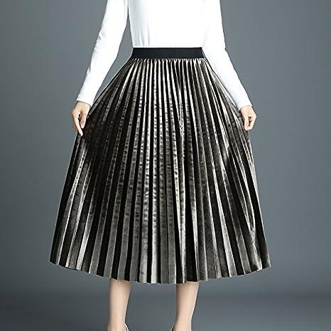 Faldas Mujer Primavera Otoño Medium Largos Falda Plisada Niñas Ropa Talla  Única Color Sólido Entallados Enaguas Casual Slim Fit Moda Kilt  Amazon.es   Ropa y ... 2e3d6332e9ce