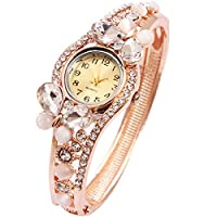 Wrist Watch for Female Butterfly Gold Bangle Wrap Watch