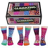 Oddsocks Glamazing Socken im 6er Set - Verrückte Glamazing Strumpf unterschiedlich