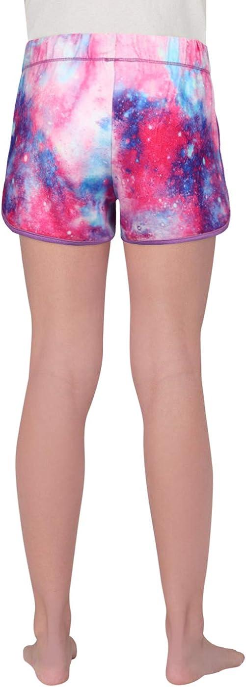 HDE Girls Pajama Shorts Glitter Printed Dolphin Sleep Short w//Satin Drawstring