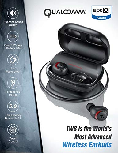 Bluetooth Earbuds Wireless Earbuds Bluetooth Earphones Wireless Headphones, OFUSHO Bluetooth 5.0 Deep Bass 152H Playtime IPX7 Waterproof TWS Stereo in-Ear Headphones with Charging Case, CVC8.0 Apt-X