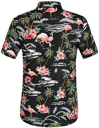 30b0d9f11 SSLR Men's Flamingos Casual Short Sleeve Aloha Hawaiian Shirt - Buy ...
