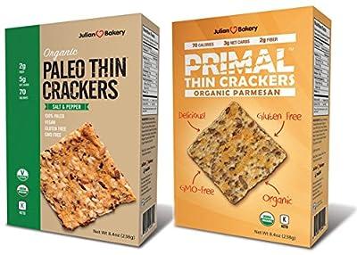 Paleo & Primal Thin Crackers (Variety 2 Pack) (Organic, Low Carb, Gluten Free, Grain Free)