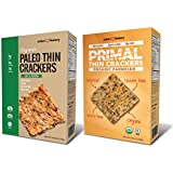 Paleo & Primal Thin Crackers (Variety 2 Pack) (Organic, Low Carb, Gluten Free, Grain Free)