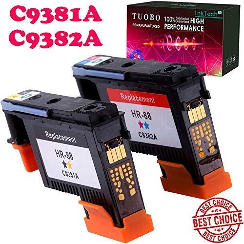 - Tuobo HP88 Printhead 2PK C9381A C9382A Remanufactured Compatible for HP Officejet with Pro K5400 L7550 L7580 L7590 L7650 L7680 L7750 L7780 L7790 Printer(1BY, 1MC)-US