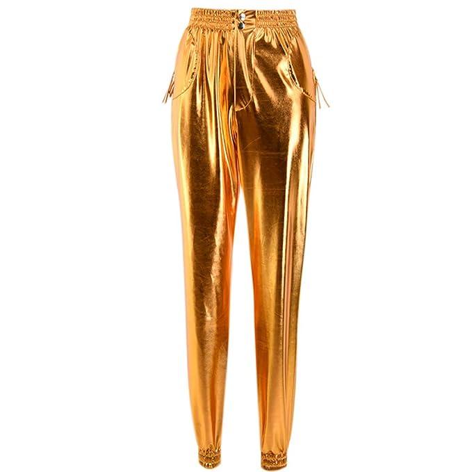 fa228a75 Women Leggings PU Leather Pants Shaping Hip High Waisted Stylish Skinny  Slim Tight Joggers Trousers Pencil Pants: Amazon.co.uk: Clothing
