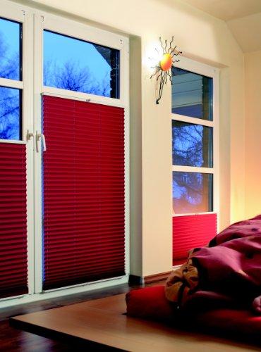 Plissee nach Maß - abdunkelnd(Blackout) - frei wählbar bis max. 120 x 180 - Cosiflor Faltstores - Modelle VS2 + VS1 - 7 Farben - hier Breite bis 100 cm und Höhe bis 100 cm