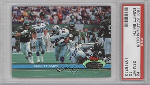 Emmitt Smith PSA GRADED 10 (Football Card) 1991 Topps Stadium Club - [Base] #2