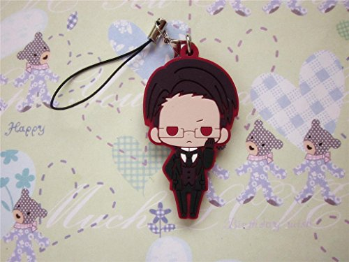 Black Butler Cosplay William T. Spears PVC Figure Cell Phone Strap -