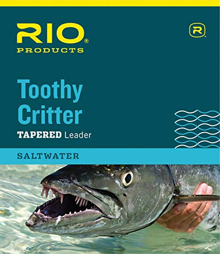 Toothy Critter Leader - RIO Products Leaders Toothy Critter II 7.5' 20Lb Class 20Lb Stainless Wire with Snap, Clear