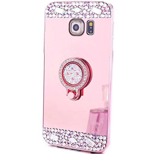 quality design 863bf 1954f Galaxy S8+ Case,S8 Plus Cover ,MACBOU Crystal Rhinestone Soft Rubber Bumper  Bling Diamond Glitter Mirror Makeup Case with Ring Stand Holder Cover Case  ...