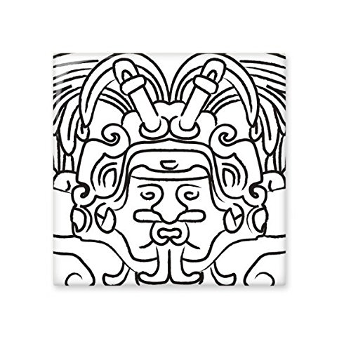 well-wreapped Egypt Culture Black White Abstract Totem Figure Wings Fresco Asymmetric Illustration Pattern Ceramic Bisque Tiles for Decorating Bathroom Decor Kitchen Ceramic Tiles Wall Tiles