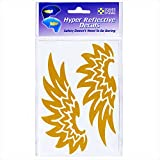 Seward Street Studios Reflective Decals Tribal Wings Set – Angel Wings Safety Sticker Kit – Wing Reflector Stickers (Gold)