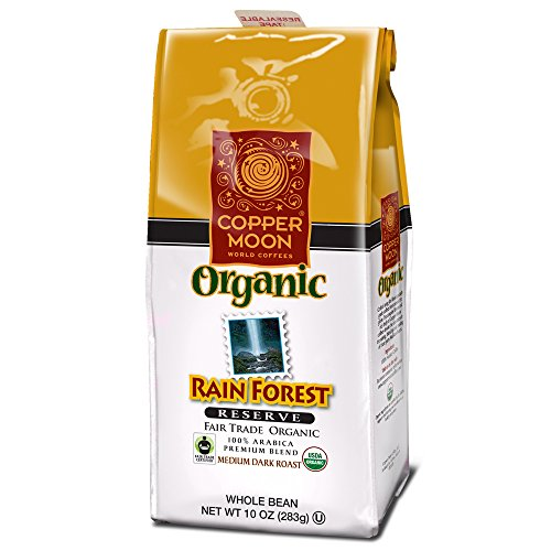 Copper Moon Coffee Rainforest Taciturnity Fair Trade Organic, Ground, 10 Ounce