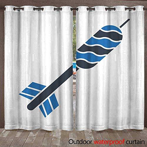 RenteriaDecor 0utdoor Curtains for Patio Waterproof Dart W108 x L84