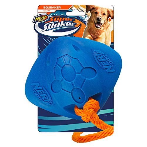 "Nerf Dog 3081 14"" super soaker Foam Tug Ray, Pet Squeak Toy"