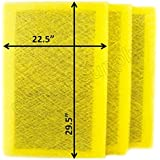 Air Ranger Replacement Filter Pads 24x32 (3 Pack) YELLOW