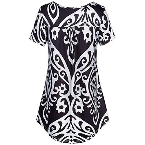 Manches Blouse Button Confortable Blouse Rond Elgante Branch Basic fashion Col Casual Rayures Haut Plier Verticales HX Schwarz Vetement Courtes 2 Shirts Femme Mode Chemise Et 5wqfzv