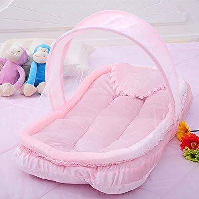 Tente de jeu pliable de tente de dôme de château d'enfant pour intérieur / extérieur moustiquaires de bébé de trois pièces