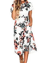 Greenis Summer Women Dress Maxi Floral Printed
