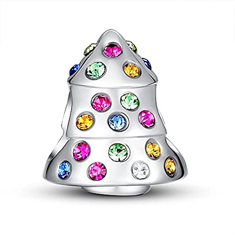 Glamulet Art - Funky Christmas Tree Charm -- Fits Pandora Bracelet