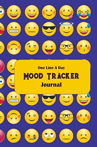 - One Line A Day Mood Tracker Journal: Thirty-one-day, emoji, condensed mood diary, complete with sketch areas and color charts.