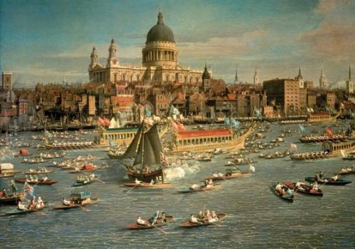 Wentworth London, The Thames with View of the City of St Paul's Cathedral 250 Piece Wooden Jigsaw Puzzle by - St Thames
