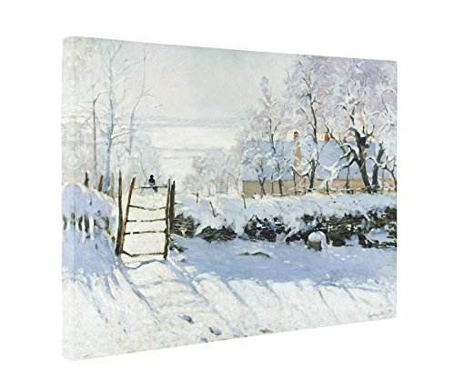 - Niwo Art (TM - The Magpie, by Claude Monet - Oil Painting Reproductions - Giclee Canvas Prints Wall Art for Home Decor, Stretched and Framed Ready to Hang