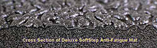 SoftStep 3/8'' Thickness Black 4' x 12' Anti-Fatigue Mat by American Floor Mats (Image #2)