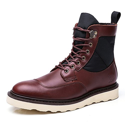 Brown Booties 7 Winter Work Shoes Fashion Windproof Camel Reddish Martin Leather Boot Warmth Mens Eyes 6qzvwzSR