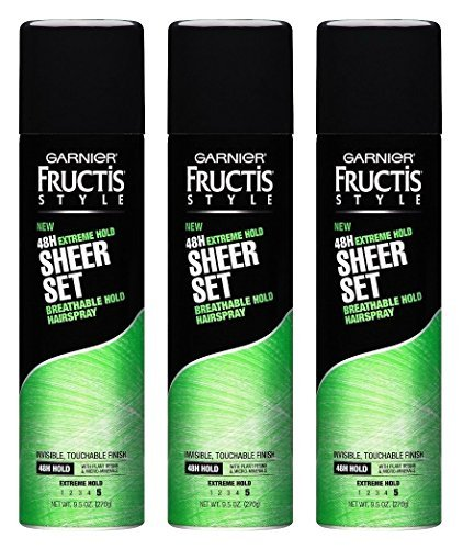 (3 Pack) Garnier Hair Care Fructis Sheer Set Hairspray, Extreme Hold, 9.5 Ounce each