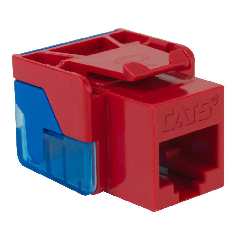Icc Cat5jack-rd Ic1078e5rd - Cat5 Jack Red