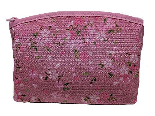 [해외][PLUS COMFORT] 현관 대 벚꽃 무늬 사쿠라 화 무늬 화장 화장품 코스메틱 파우치 / [PLUS COMFORT] Pouch large cherry blossom pattern Sakura Japanese pattern Kimono cosmetic pouch
