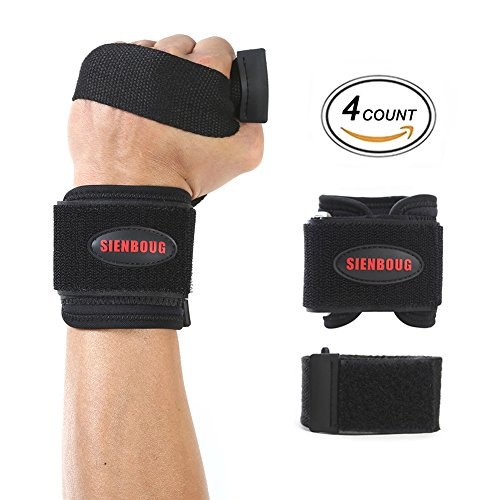 Wrist Braces SIENBOUG Wrist Support Wrap Wrist Compression Strap and Support Hand & Wrist Braces for Volleyball Badminton Tennis Basketball Weightlifting - For Women and Men(1 Pair) - Powerlifting Platform