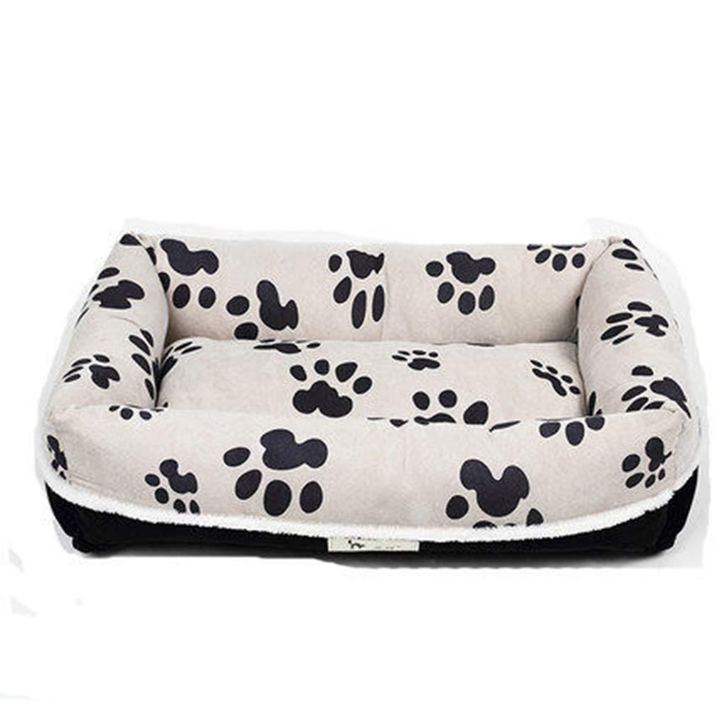 outlet in vendita Tappetino per animali domestici, letto letto letto in cotone tridimensionale in PP per cani di taglia piccola e media e grande, morbido e comodo letto per gatti con cuscino rimovibile ( dimensioni   75×55×18cm )  vendita calda online